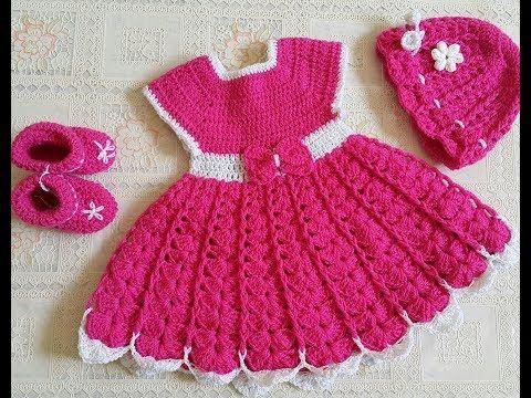 شكرا لمتابعتكم لا تنسوا لايك ومشاركة حتي يصلكم كل جديد فستان كروشية اطفال فستان كروشيه بناتي فستان كروشيه بيبي فس Crochet Baby Dress Crochet Dress Crochet Baby
