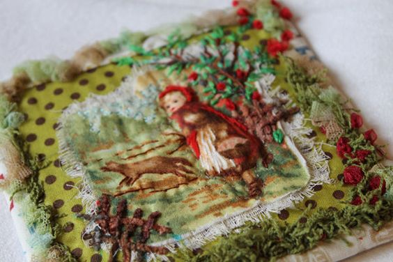 Facile Cecile: Amazing Stitching, Red Riding Hood, Art, Red Ridinghood, Brode Facilecécile, Brode Tous, Sewing Stitching Embroidery
