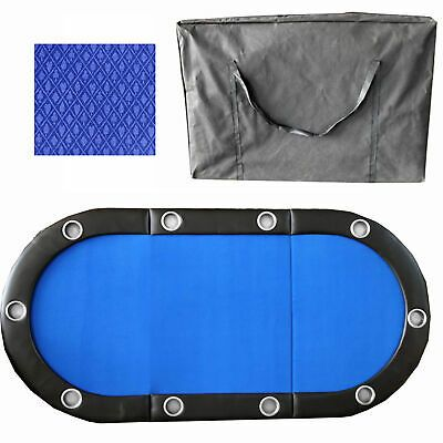 Ebay Ad Link Blue 84 Inch 10 Player Tri Fold Poker Table Top W Speed Cloth Poker Table Top Poker Table Folding Poker Table