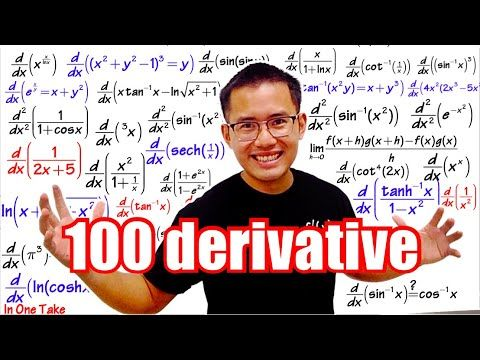 100 Derivatives In One Take Power Rule Product Rule Quotient Rule