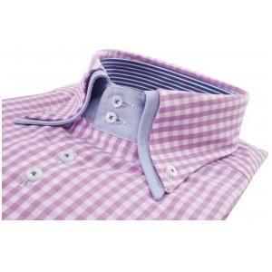 Marnelli heren overhemd met roze ruit en 2-knoops button down. Bevat een dubbele boord en manchetten. Dit overhemd kan tevens makkelijk gecombineerd worden met een spijkerbroek, jeans, kobaltblauwe of donkerblauwe broek in combinatie met een donkerblauw jasje of pak. Op www.shopwiki.nl #fashion #man