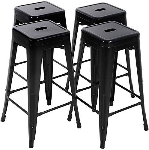 The Fdw Bar Stools Set 4 Counter Stool Metal Bar Stools 30 Inches