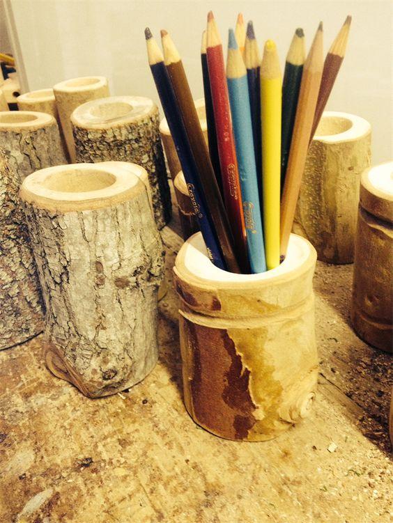 Handmade Wooden Pencil Holder Waldorf Pinterest