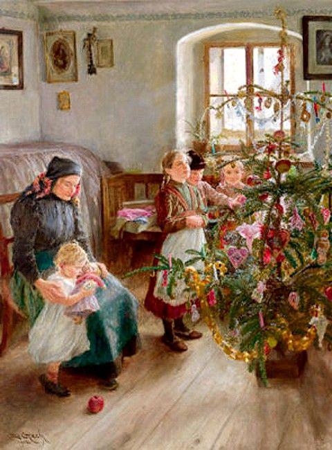 Emil Czech (1862-1929)  —  Christmas,  c.1910  (480x650):