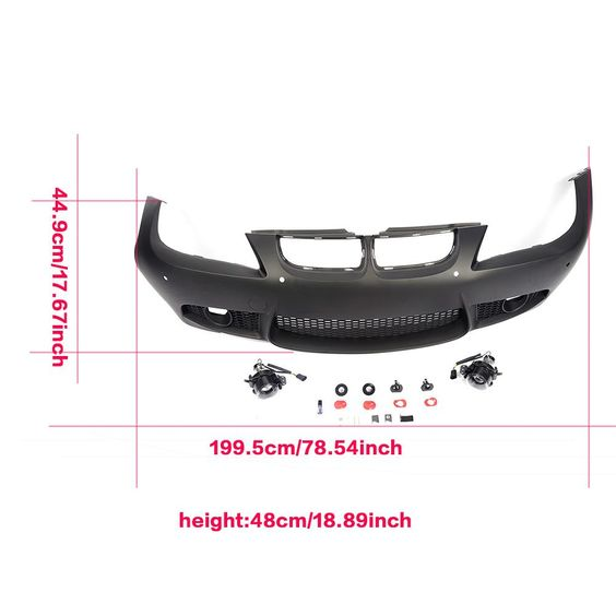 M3 style front bumper guard for bmw e90 2005 2008 pp black m3 style front bumper guard for bmw e90 2005 2008 pp black unpainted auto head bumper body kits car tuning parts auto replacement parts pinterest kit fandeluxe Gallery