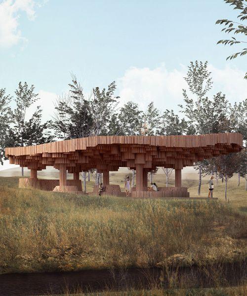 Tippet Rise Art Center To Break Ground On Francis Kere Designed Pavilion Wooden Pavilion Rise Art Pavilion Design