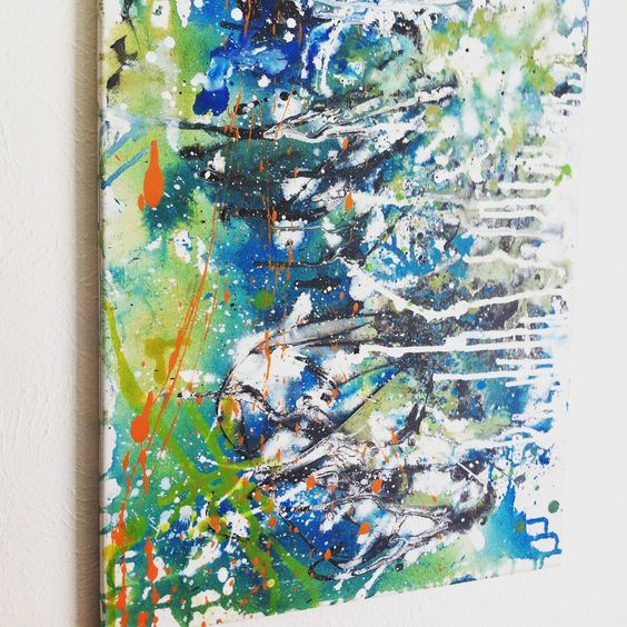 Abstract Acrylic Painting Bright Colored Original Graffiti Wall Art by CosmicCannibalArt on Etsy