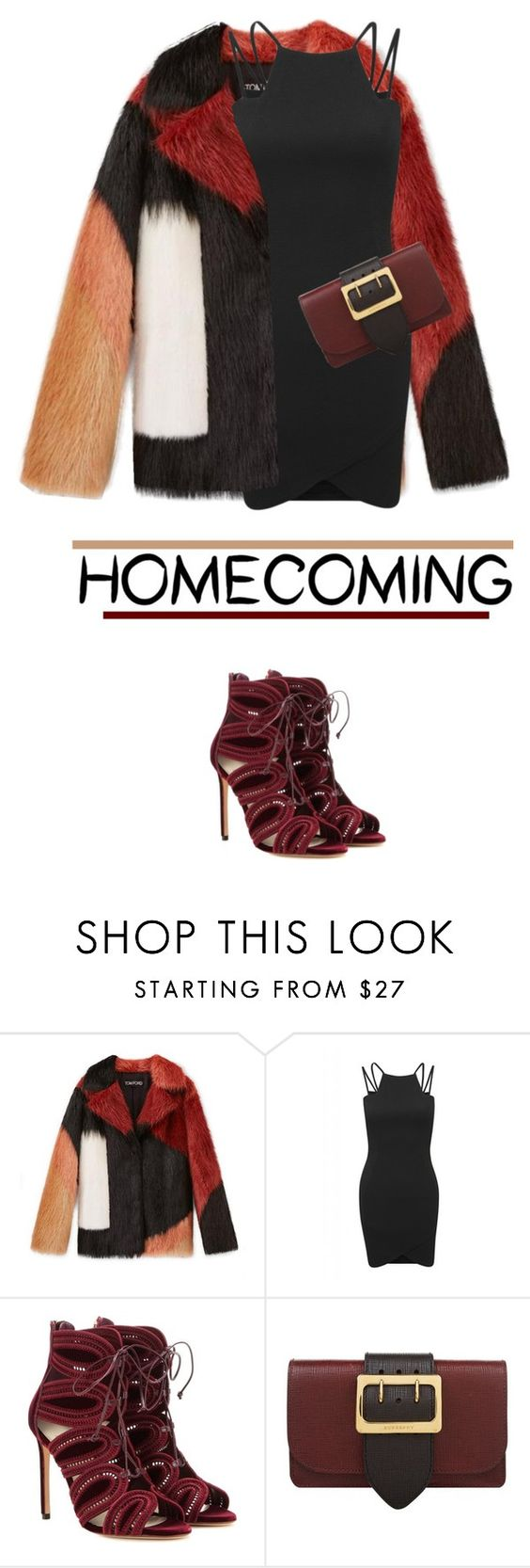 """""""Untitled #275"""" by msb-11111 ❤ liked on Polyvore featuring AX Paris, Francesco Russo and Burberry"""