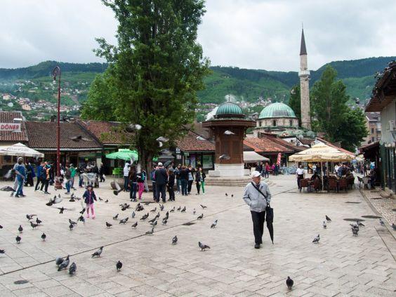 Baščaršija, le quartier turc de Sarajevo