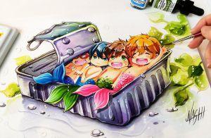 Happy Free Fish by Naschi