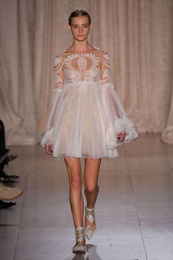 White lacy dress. Marchesa Spring 2013 #fashion