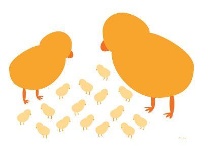 Orange Chicks Poster por Avalisa na AllPosters.com.br