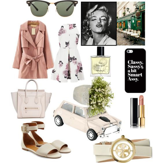Sweet witch by cikruit on Polyvore featuring polyvore, fashion, style, Cameo, Chloé, Tory Burch, Ray-Ban, Casetify, Chanel, Miller Harris, Nearly Natural and 1000Museums