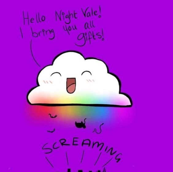 Night Vale's terrifying glow cloud<< ALL HAIL THE GLOW CLOUD