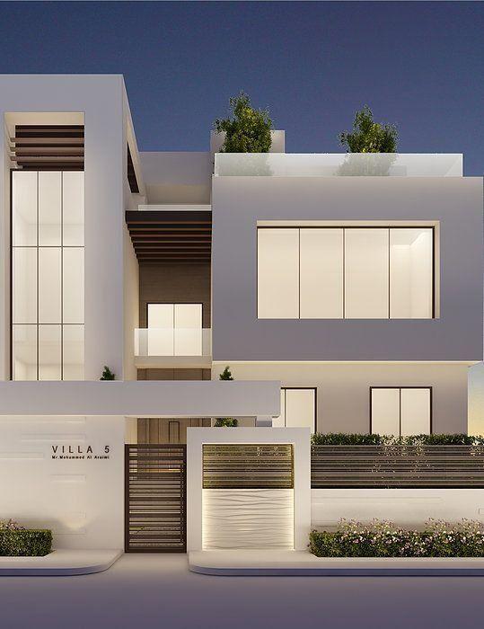 10 Best Modern Minimalist Villa Designs Suitable For Families Architecturian Modern Minimalist House Facade House Modern House Exterior