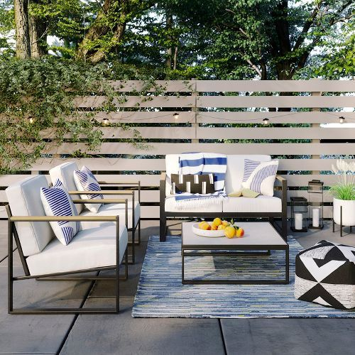 henning square patio coffee table