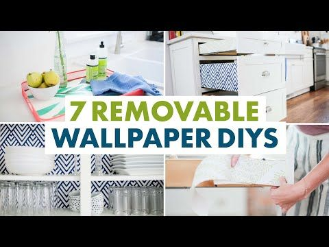 3 7 Things You Can Do With Removable Wallpaper Decorate Appliances Cupboards Hgtv Handmade Youtube In 2020 Removable Wallpaper Craft Room Wallpaper