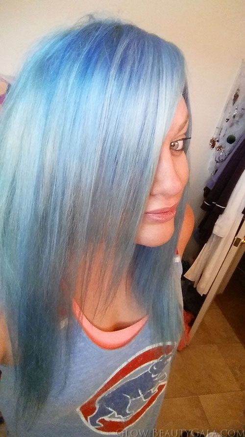 blue hair ion color brilliance azure amp shark blue mixed