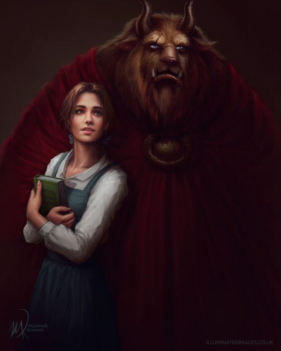 La Belle et la Bete - Beauty and the Beast by me-illuminated