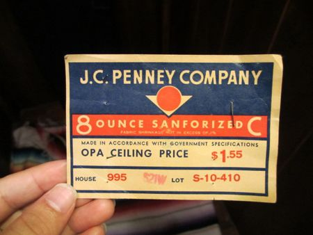 "40's J.C PENNEY 大戦オーバーオール ""フラッシャー付き"""