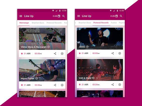 Tomorrowland App Line-up by Moisés Dias
