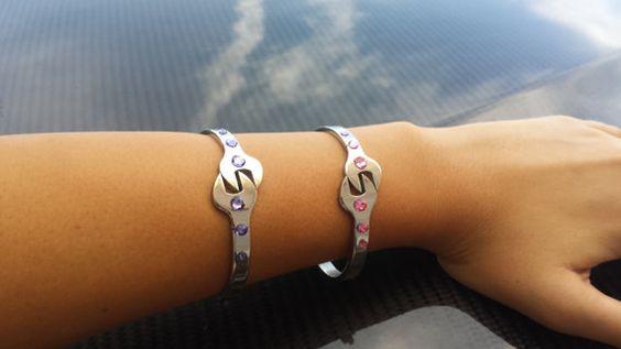 Schraubenschlüssel Armband Swarovski von GarageGirlsJewelry auf Etsy