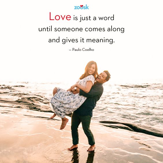"Love quotes: ""Love is just a word until someone comes along and gives it meaning."" – Paulo Coelho #love #quote #lovequote #lovequotes #paulocoelho"