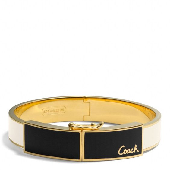The Colorblock Plaque Hinged Bangle from Coach