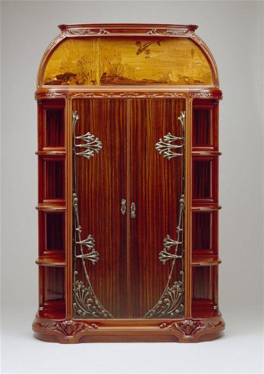 """Cabinet from the Suite """"La Mer"""" / Louis Majorelle / c. 1910 / Detroit Institute of Arts"""