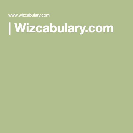 vocabulary| Wizcabulary.com