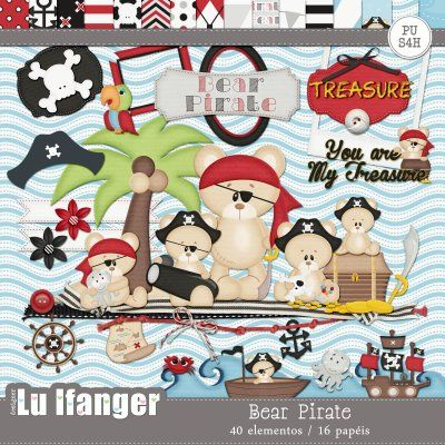 Kit Digital Bear Pirate by Lu Ifanger