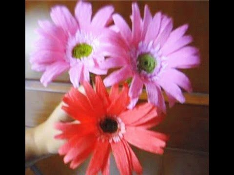 Paper flowers gerbera daisy youtube paprvirgok pinterest paper flowers gerbera daisy youtube mightylinksfo Image collections