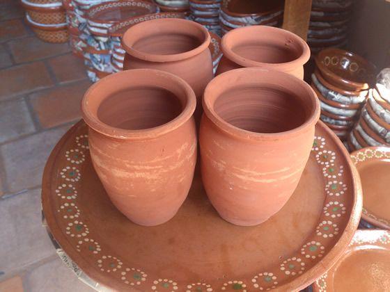 venta de cantaritos y jarritos de barro para rusa  agua