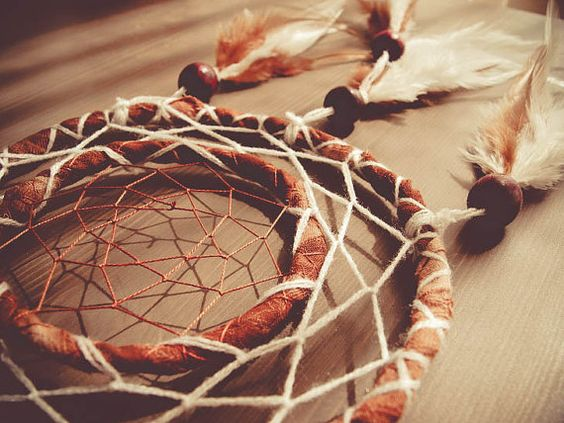 Dream Catcher - Annual Rings - With Natural Brown Feathers, Brown Frame, Brown and White Nett - Home Decor, Mobile  #photo #photography #art #dream #dreamy #dreamcatcher #catcher #catcer #feather #feathers #love #lovely #white #black #pigeon #awesome #beautiful #bird #fly #birds #hippie #hipster #native #american #dreamer #bohemian #nice #unique  #child #children #childhood #gift #idea #craft #crafy #inspiration #cradle #tree  #annual #ring #circle #forest #natue #natural #brown #white $23