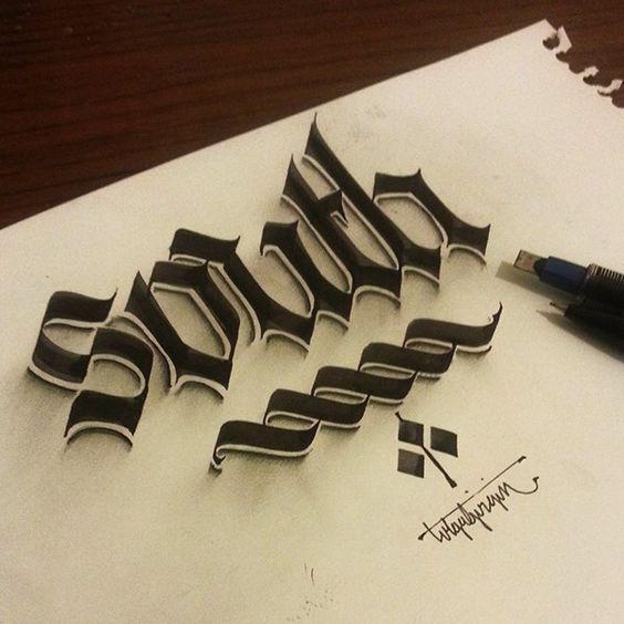caligrafia en 3D