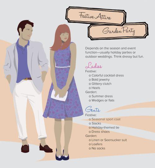 Decoding Dress Code Festive Attire Garden Party Party Dress Codes Wedding Attire Guest Garden Party Outfit