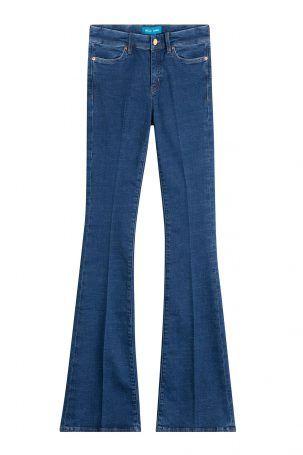 MiH Jeans MiH Jeans Flared Jeans aus Baumwolle – Blau