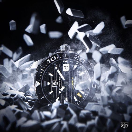 """With over 60 precision, quality, reliability and strength tests, the """"torture room"""" in La Chaux-de-Fonds gets its name from the extraordinarily specific stress tests placed on each TAG Heuer timepiece. #DontCrackUnderPressure #Aquaracer"""