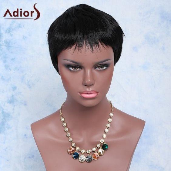16.59$  Buy now - http://di4np.justgood.pw/go.php?t=184041901 - Women's Stylish High Temperature Fiber Ultrashort Wig