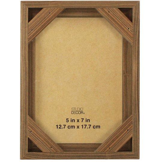 Natural Wooden Frame With Corner Studio Decor Frame Decor Favorites