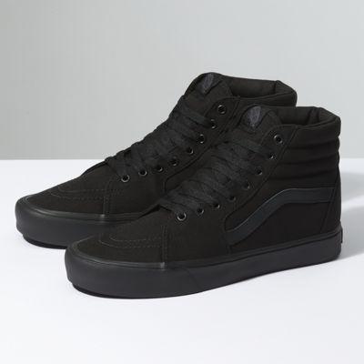 black vans hi top