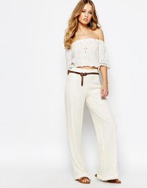 Supertrash Pilena Wide Leg Trousers in Lace