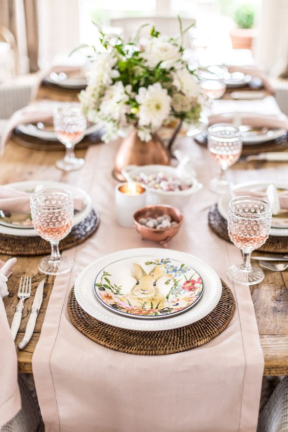 Easter Table with Pottery Barn - COTTONWOOD & CO