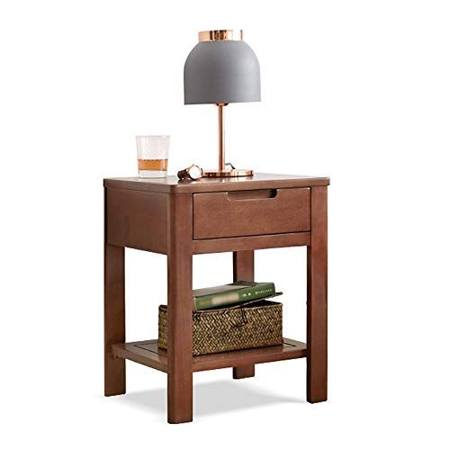Ping Bu Qing Yun Bedside Table Simple And Economical Bedroom Storage Cabinet Storage C Solid Wood Bedside Tables Bedroom Storage Cabinets Wooden Bedside Table