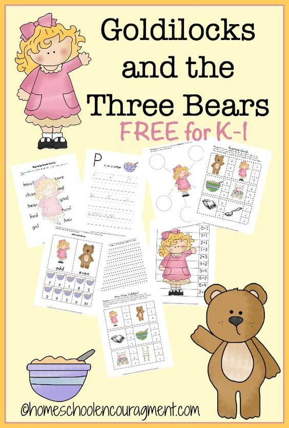 goldilocks the three bears free printable family songs songs for children and i love. Black Bedroom Furniture Sets. Home Design Ideas
