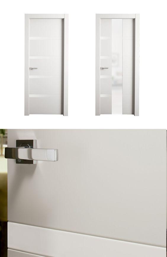 Puerta de interior blanca modelo nebo de la serie imagin - Puertas blancas de interior ...