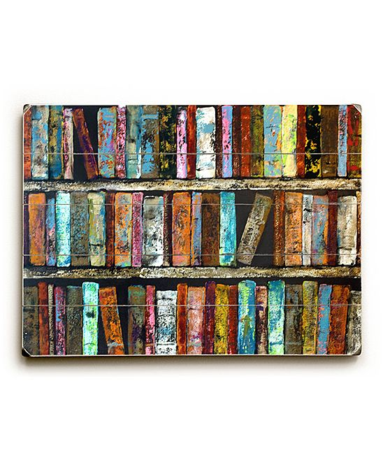 Artehouse Laura Sue Peters Rustic Books Wood Wall Art Zulily Rustic Books Artehouse Wood Wall Art