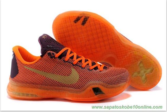 "sites de tenis Merlot/Villain Vermelho-total de laranja-ouro metálico 705317-331 ""Silk"" Nike Kobe 10"