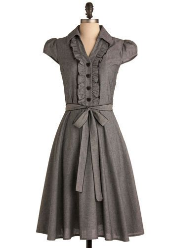 #dress #sleeves #modest #grey