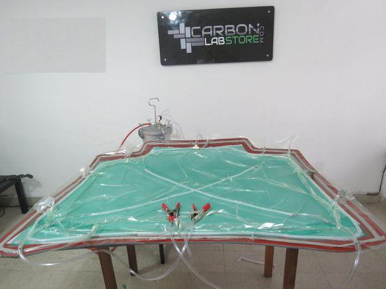 Verificación de un correcto vacío en el molde. Para mayor información, visita: www.carbonlabstore.com